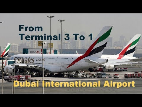 A Bus journey From Terminal 3 to 1| Dubai International Airport | GoproHero5 |