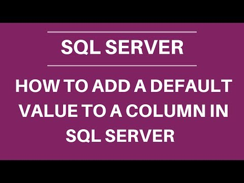 How to add a default value to a column in SQL
