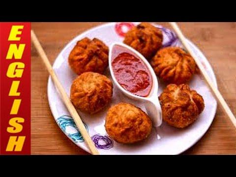 ★ Chicken Momos Fried | Chicken Dim Sum | Chinese Recipes | Chicken Recipes