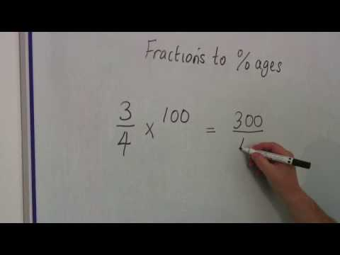 Math Calculations & Conversions : Changing Fractions to Percentages