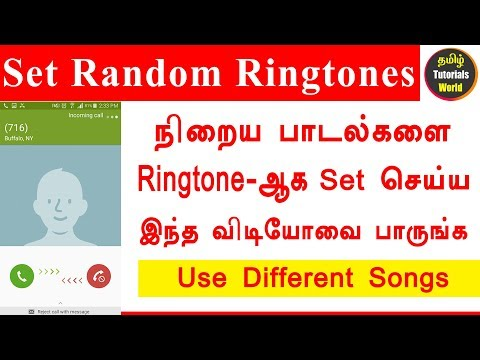 How to set different ringtones in Android Tamil Tutorials World_HD