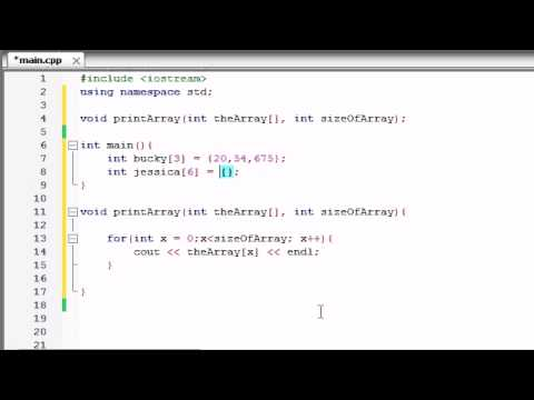 Buckys C++ Programming Tutorials - 35 - Passing Arrays to Functions