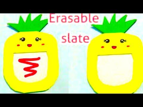 Magic Paper Slate - how to make erasable slate (kawaii) WITH PAPER | cool and creative #125