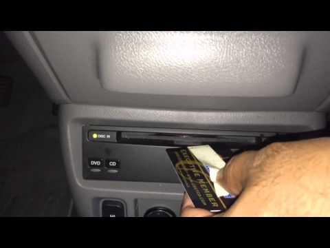 How to remove a stuck DVD or CD from a slot DVD player