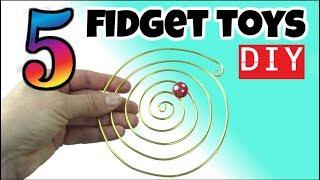 Download 5 COOL DIY FIDGET TOYS - DIY EASY TOYS FOR KIDS TO MAKE - HOUSEHOLD ITEMS - SCHOOL TOYS -FUN DIYS Video
