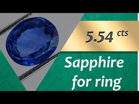 Sapphire Ring: Design Unique Ring with Sapphire 5.54 Carats