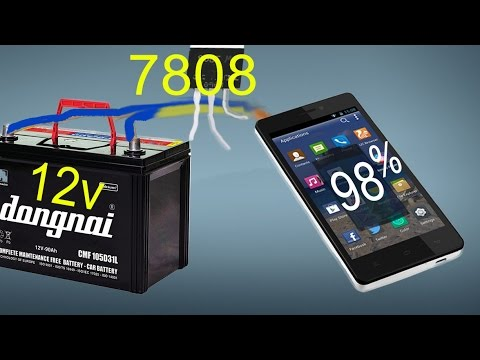 using car battery to charge the phone, battery charger android with 9v,12v