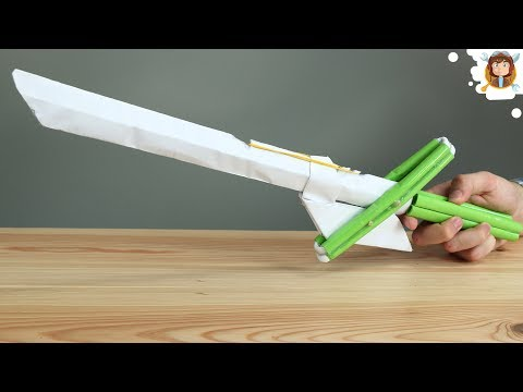 How to make a Paper Sword that Shoots Rubber Bands