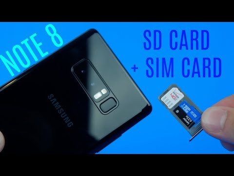 How to Insert SD Card + SIM Card to Galaxy Note 8!