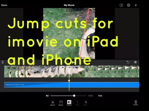 Jump cuts and splitting clips in iMovie iPad & iPhone