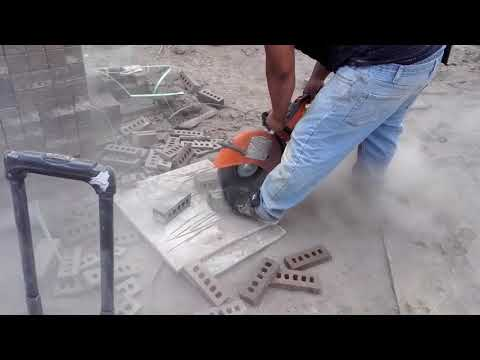 How to cut bricks with a cut off saw