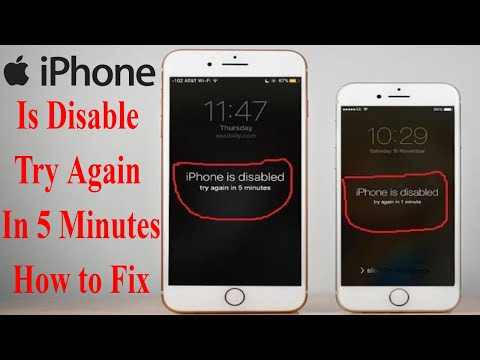 How to solve iPhone is disable connect  to iTunes in all iPhone/iPad