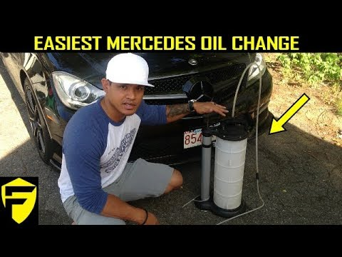 MERCEDES HOW TO: EASIEST OIL & FILTER CHANGE C-CLASS W204