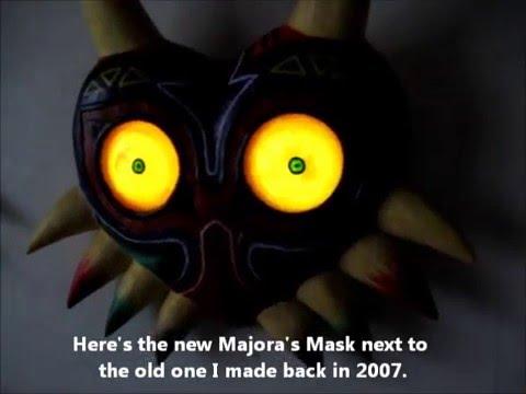 Making Majora's Mask with light-up eyes