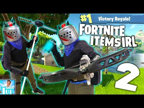 Fortnite Items IRL!! PART 2 | How to Make Med-Kit, Pickaxe, and MORE!