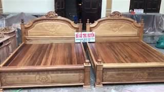 ĐỒ GỖ THU HUYỀN: 2 bộ giường rất là Dầy và đẹp