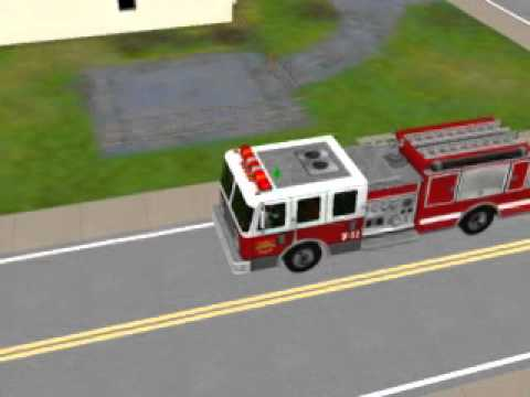 Sims 3 Fire engine