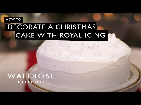 Decorate a Christmas Cake with Royal Icing | Waitrose