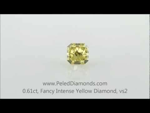 Fancy Intense Yellow Diamond, 0.61 carat