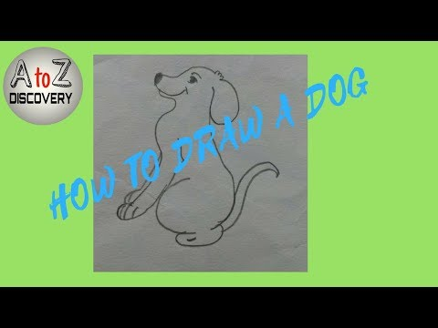 HOW TO DRAW A DOG VERY EASILY STEP BY STEP