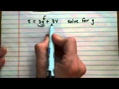 solve formula for specified variable, no numbers given (cr)