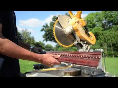Super Easy Way to Cut Crown Moulding on a Miter Saw (Dewalt)