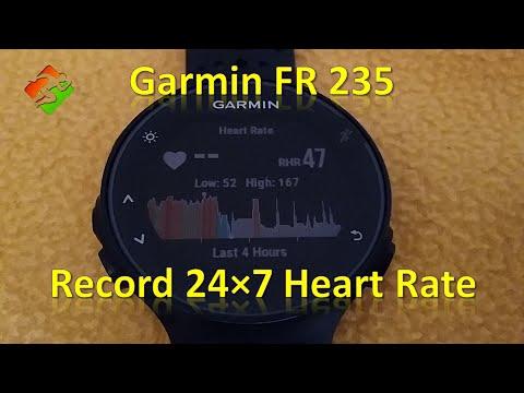 Garmin FR 235 - Record 24×7 Heart Rate