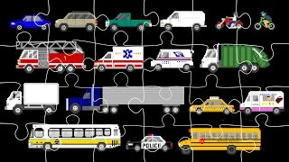 Street Vehicles Jigsaw Puzzle - Cars & Trucks - The Kids