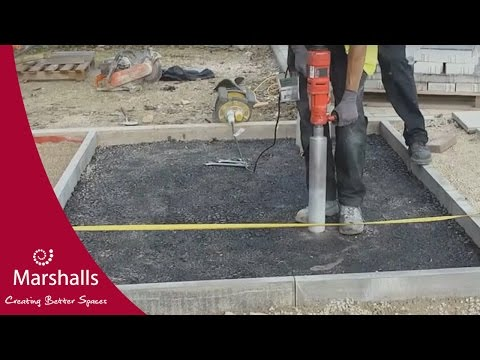 Installing a Type A Marshalls Priora permeable pavement | MarshallsTV