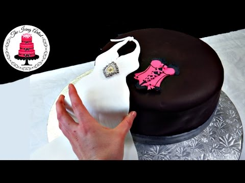 Wedding Shower Cake Elegant And Sexy - How To WIth The Icing Artist