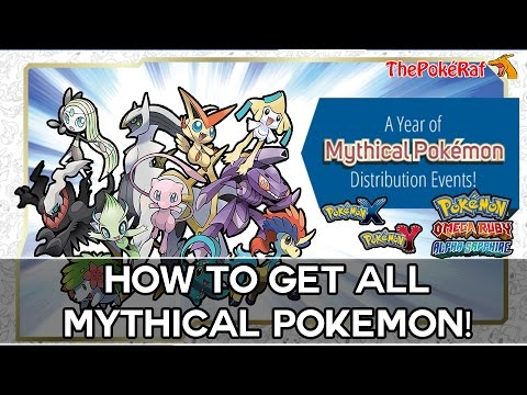 Pokémon Omega Ruby and Alpha Sapphire | How To Get All Mythical Pokémon! (Full Details) #Pokemon20