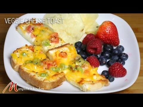 Veggie Cheese Toast - Easy to make Snacks, recipe by manjula