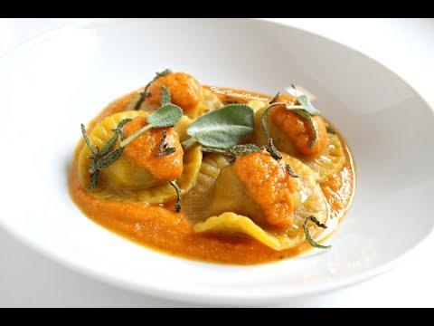 Vegan Sausage and Pumpkin Ravioli