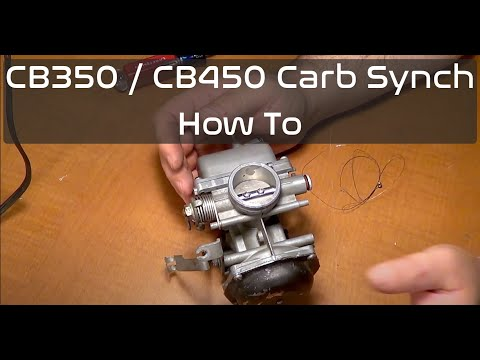 How to Synchronize Carburetors Honda CB350 & CB450