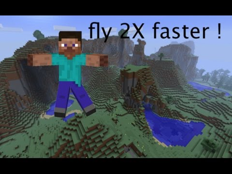 how to legit fly faster in minecraft !