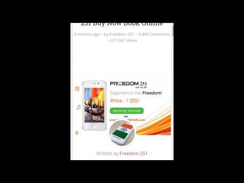 How to buy freedom 251 phone