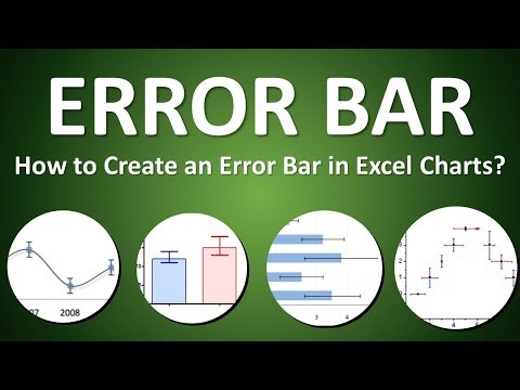 How to Create an Error Bar in Excel Charts - Part 1