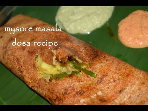 Mysore masala dosa recipe in Kannada / Masala dosa in Vaishnavi Channel