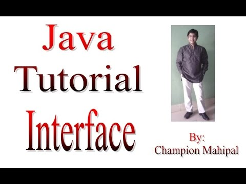 Learn Java Tutorial 25 Interface with Example