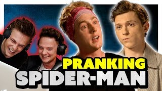 TOM HOLLAND INTERVIEW *PRANK* (EARPIECE) ft Conor Maynard & Caspar Lee