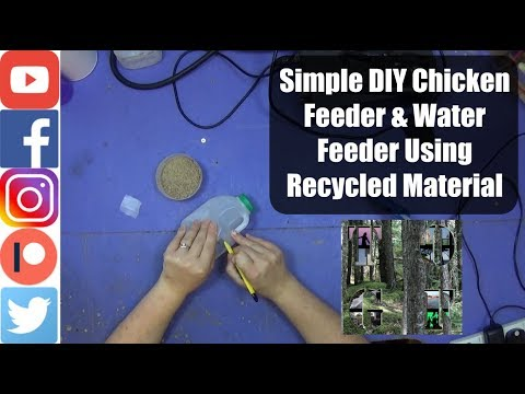 Simple DIY Chicken Feeder & Water Feeder Using Recycled Material