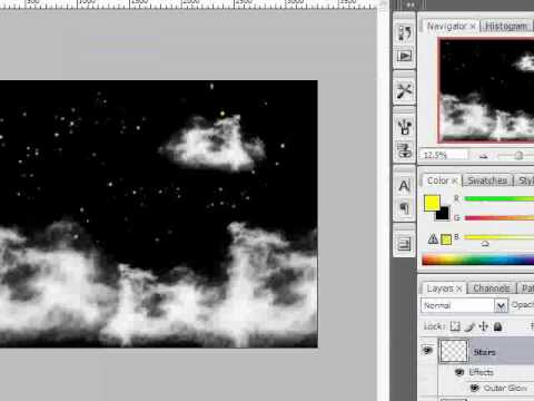 Photoshop CS3 - Night Sky Tutorial