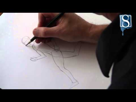 How to Draw a Running Man step-by-step by Mark Bergin
