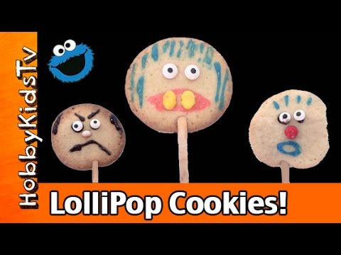 Scary Lollipop COOKIE FACES On a Stick! Happy Funny Cookies by HobbyKidsTV Toys