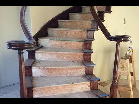 Wow! Awesome ideas How to make a Curved Railing For Wood Stairs
