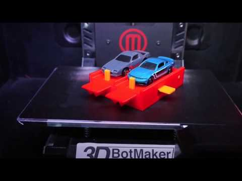 3D Print Time Lapse of Start Gate For Hot Wheels Cars & Track