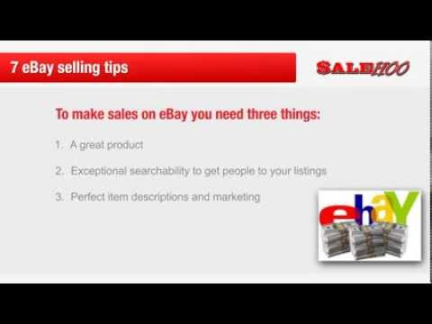 7 eBay selling tips