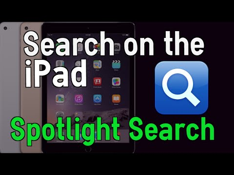 How to use Spotlight Search iOS 8 on the iPad