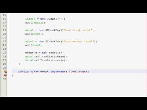 Java GUI Tutorial 18 - JCheckBox