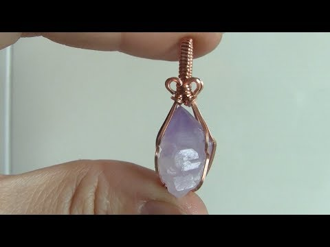 Rough Crystal Point Wire Wrapped Pendant Tutorial